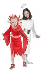 Engel und Teufelinnen-Kostüm für Mädchen