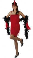 Rotes Charleston-Kostüm für Damen
