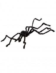 Haarige Spinne Halloween-Deko schwarz 102 cm