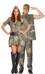 Soldaten-Paarkostüm für Erwachsene