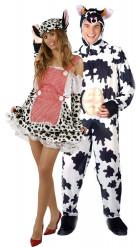 Witziges Kuh-Paarkostüm für Erwachsene