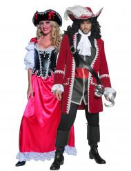 Piraten-Paarkostüm hochwertig für Erwachsene bunt
