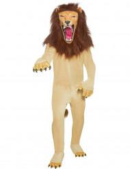 Gefährliches Löwen-Kostüm für Erwachsene braun