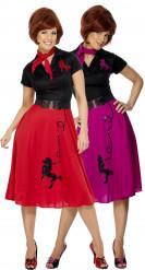 50er Jahre Rock n Roll-Paarkostüm für Damen