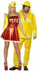 Feuerwehr-Paarkostüm für Erwachsene