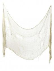 Schauerliches Halloween-Dekorationstuch aus Stoff weiss 75x300cm