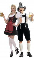 Dirndl und Lederhosen Kostüm für Paare