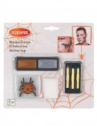 Schminke mit Pailletten und Tatoos für Halloween