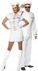 Navy-Kapitäns-Paarkostüm für Erwachsene