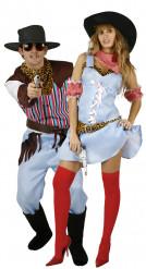 Cowboy und Cowgirl Paarkostüm