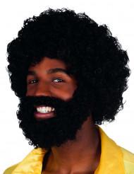 Perücke Mambo mit Bart und Schnurrbart