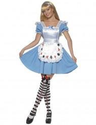 Wunderland-Prinzessinnen Kostüm für Damen mit Schürze und Tüll