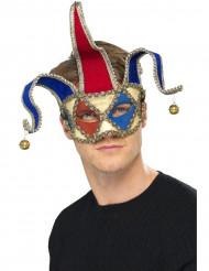 Venezianische Harlekin-Halbmaske