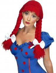 Perücke  für Damen, kurze Haare, rot.