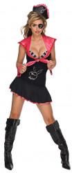 Sexy Playboy™ Piratinnen-Kostüm für Damen