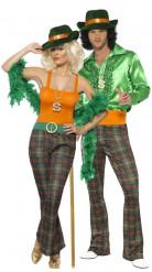 Lady und Gentleman Disco-Paarkostüm