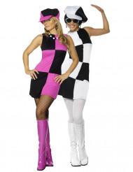 Disco-Kostüm für Paare 70er-Jahre Doppelpack bunt