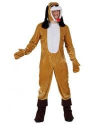 Hundekostüm für Erwachsene mit Kapuze bunt