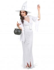 Halloween Hexe Kostüm für Damen Weiß