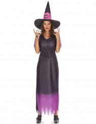 Hexen-Damenkostüm schwarz-violett