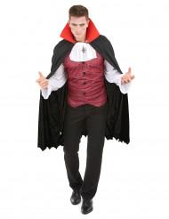 Vampir-Herrenkostüm für Halloween schwarz-weiss-rot