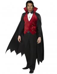 Vampir-Kostüm für Herren 3 teilig rot-schwarz