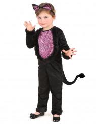 Katzen-Kostüm für Mädchen schwarz-pink