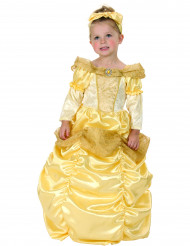 Prinzessinnen-Kostüm für Mädchen mit Schleife goldfarben