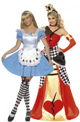 Alice-im-Wunderland / Herzkönigin Kostüm für Damen