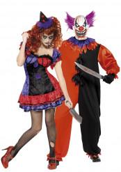 Gruseliges Clownskostüm Halloween für Paare