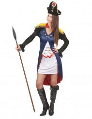 französisches Soldatinnen-Kostüm für Damen