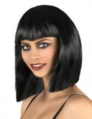 schwarze Vampir-Perücke für Damen
