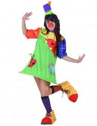 Spielerisches Clowns-Kostüm für Damen bunt