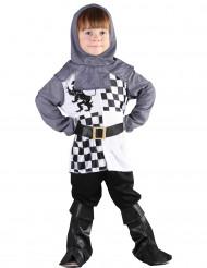 Ritter-Jungenkostüm für Fasching schwarz-weiss-grau