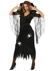 Spinnen-Kostüm Halloween für Damen