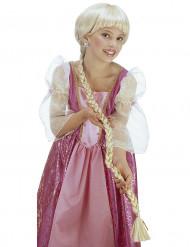 Perücke mit geflochtenem Zopf für Mädchen