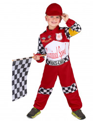 Formel 1 Rennfahrer Kostüm für Kinder schwarz-weiss-rot