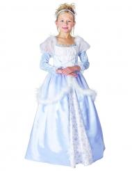 Prinzessinnen-Kostüm für Kinder mit Reifrock hellblau