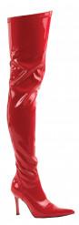 lange Stiefel für Damen rot