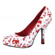 Schuhe für Damen weiß-rot