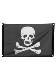 Piratenflagge schwarz-weiss 90x60cm