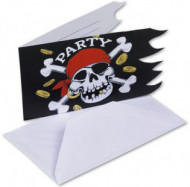 Einladungskarte - Pirat