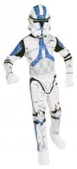 Star Wars™-Lizenzkostüm für Kinder Clone Trooper weiss-blau
