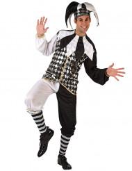 Harlekin Kostüm für Herren schwarz-weiss