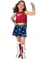 Wonder Woman™-Mädchenkostüm Superheldin rot-blau-gold