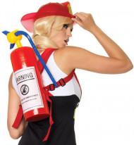 Aufblasbarer Feuerlöscher Rucksack für Erwachsene rot