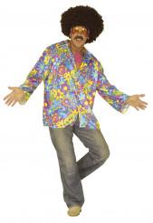 Blaues Hippie-Kostüm für Erwachsene