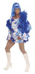 Drag Queen Disco blau Herrenkostüm