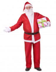 Weihnachtsmann-Kostüm Set für Erwachsene aus Fleece
