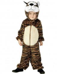 Tiger-Kinderkostüm schwarz-weiss-orangefarben